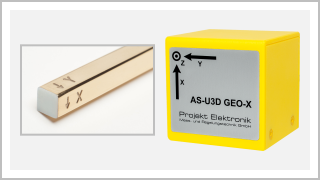 tree axis AS-active-probes - detail view probe head 3D magnetic field probe AS-N3DM, probe head 3D earth's magnetic field probe AS-U3D GEO-X
