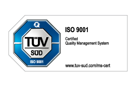 TÜV Süd Logo ISO 9001 certified quality management system