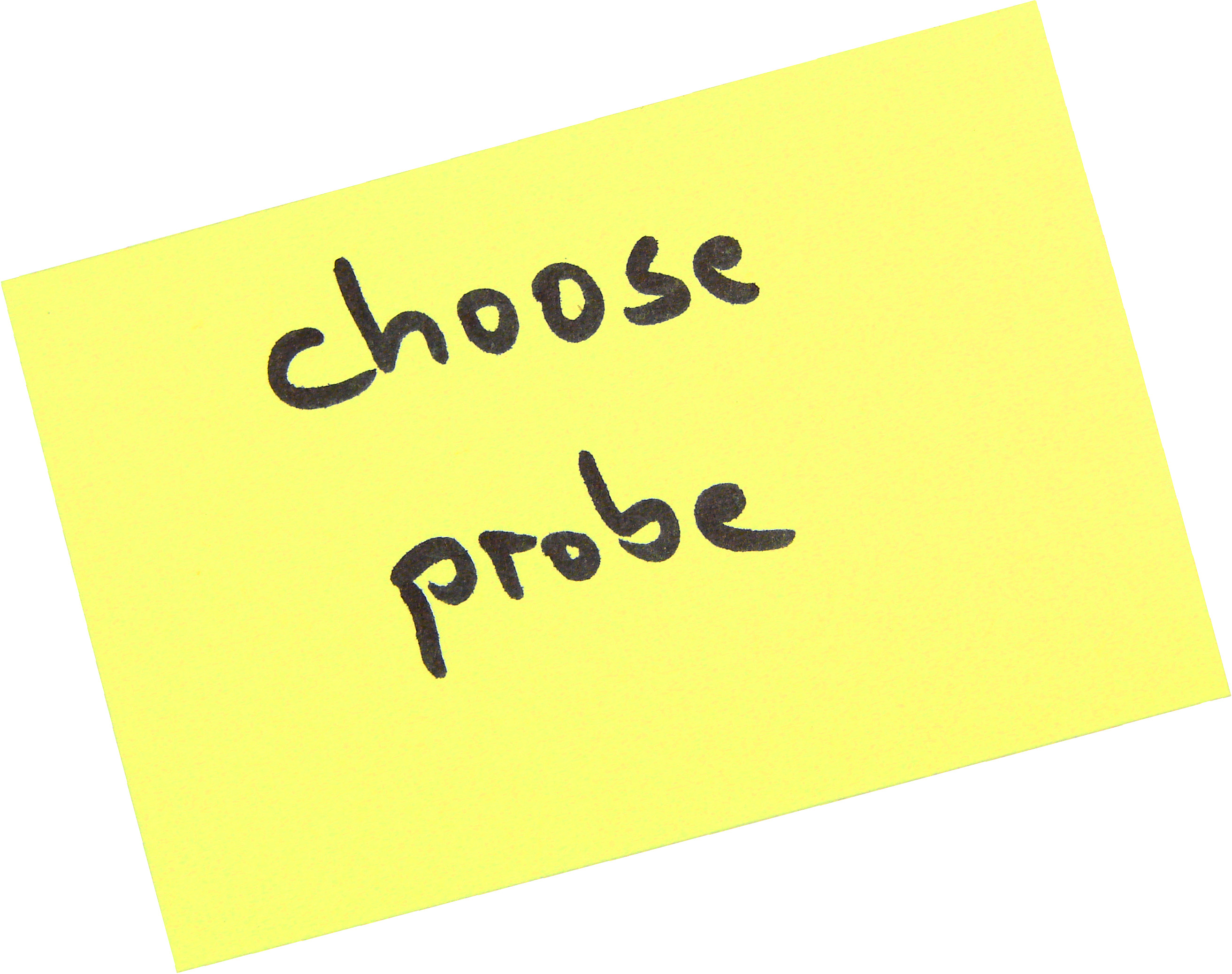 note choose appropriate magnetic field probe